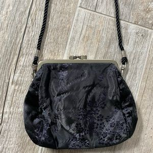 Express Black Floral Embroidered Purse/Clutch